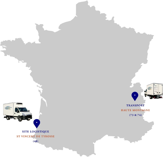 Carte sites Actis Froid